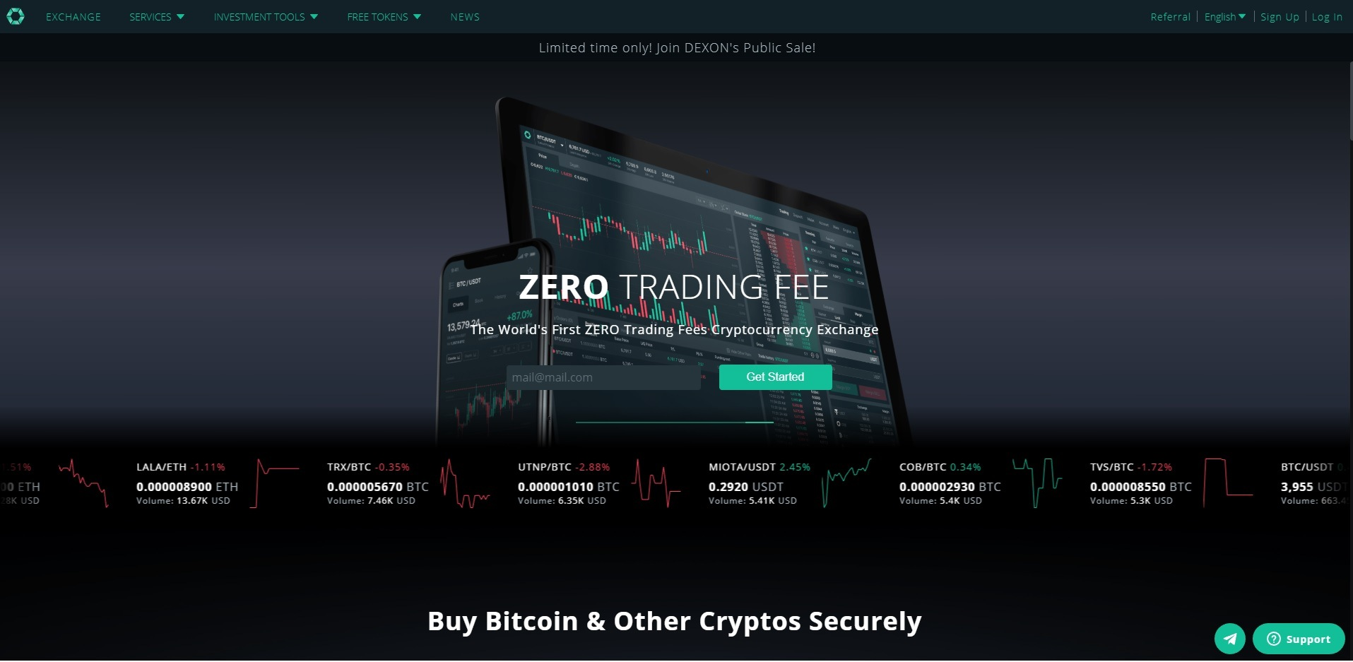 cobinhood buy bitcoin cryptos zero tradeing fee