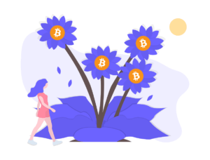 bitcoin crypto flowers